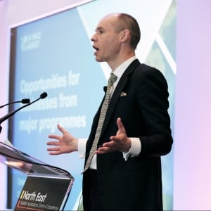 Graham Turnock, CEO of the UK Space Agency speaks at the Annual Satellite Application Conference