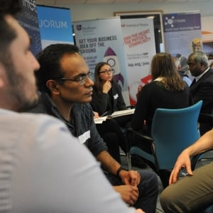 John Sherban, Founder of Quorum based at NETPark chats at our event for post graduate physics students from Durham University organised in collaboration with Durham University careers service.