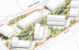 Aerial view of the proposed layout of NETPark Phase Three