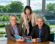 Business Development Director at Quorum Development Paul Usher, NETPark Manager Janet Todd and Commercial Director and Founder of Quorum John Sherban.