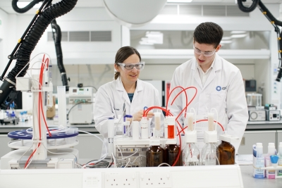 The Centre for Process Innovation (CPI) has led the AceForm4.0 project to drive the advancement of industry-led growth across formulating industries. Pictured are workers in one of CPI's laboratories at its National Formulation Centre, based at NETPark, in Sedgefield, County Durham