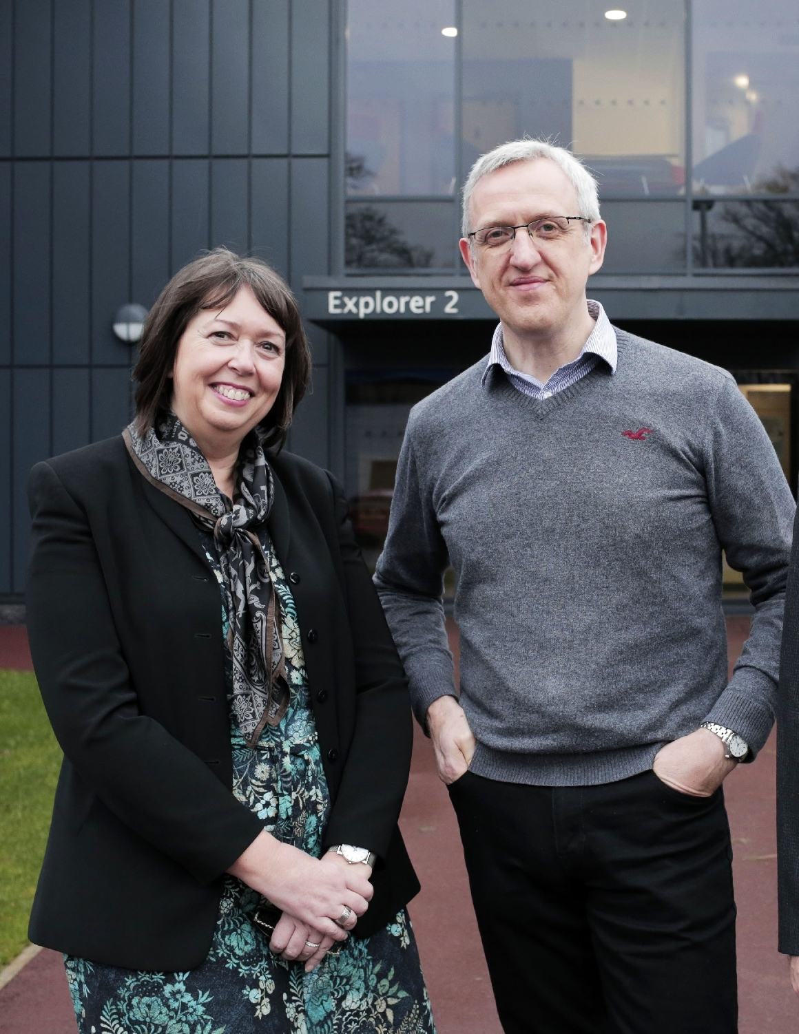 Janet Todd of Business Durham with Paul Usher of Quorum