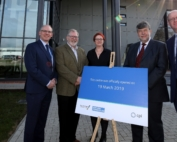 Tom Harvey, Healthcare Photonics Lead at CPI; Paul Goodwin, Science Director at GE Healthcare; Anke Lohmann, Chair of the Photonics Advisory Board; Nigel Perry CEO of CPI, Alan Welby, Innovation Director at North East Local Enterprise Partnership.