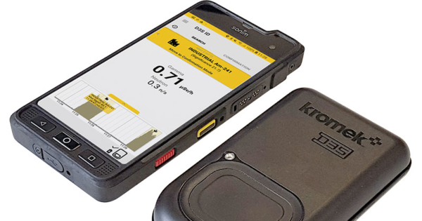 D3S radiation detector rugged phone