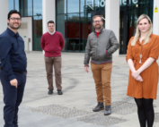 3D Bio-Tissues team, from left to right - Ricardo Gouveia, Miguel Jarrin, Che Connon and Rachel Sanders