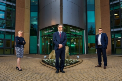 Business Durham Managing Director (interim) Sarah Slaven with Durham County Council Leader Cllr Simon Henig and Cabinet member for economic regeneration Cllr Carl Marshall