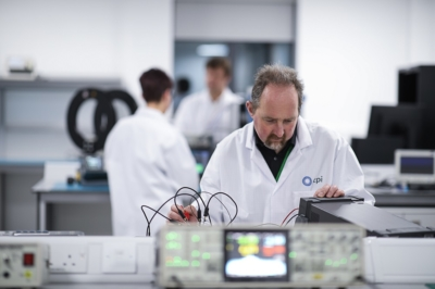 Employees working at CPI's Photonics Centre in Sedgefield, County Durham