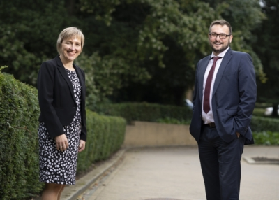 L-R Sarah Slaven, Business Durham's interim Managing Director and Cllr Carl Marshall, Durham County Council's Cabinet member for economic recovery