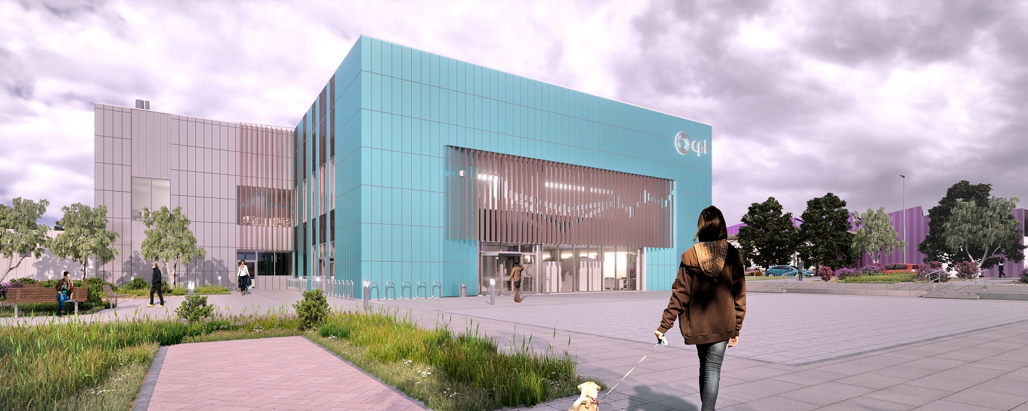 Artist's rendering of the Medicines Manufacturing Innovation Centre in Renfrewshire, UK