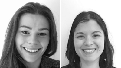(l to r) Magnitude BioSciences new team members Marketing Assistant Holly Winskell and Head of Marketing Mira Nair.
