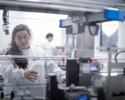 Scientist working on high throughput equipment at CPI's National Formulation Centre